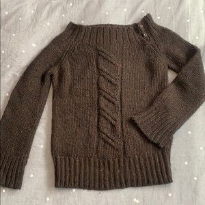 J Crew wool open cowl neck sweater
